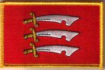 Essex Embroidered Flag Patch, style 08.